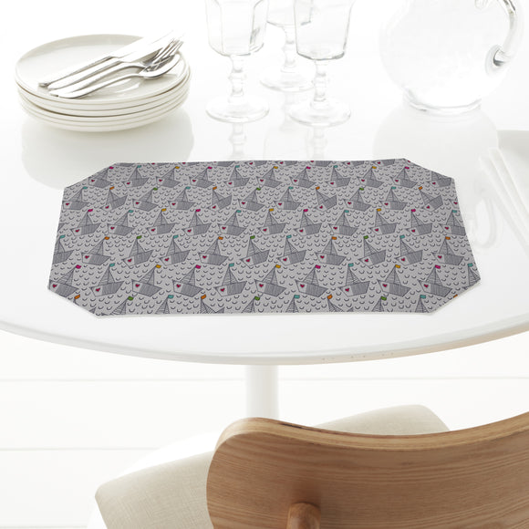Cute Boats With Hearts Placemats