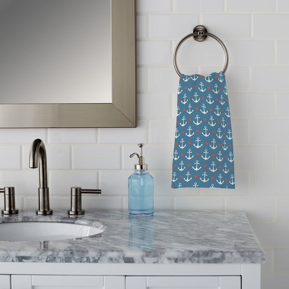 In Love With A Sailor Hand Towel