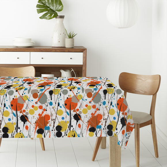 Colorful Drips and drops  Rectangle Tablecloths