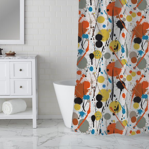Colorful Drips and drops  Shower Curtain
