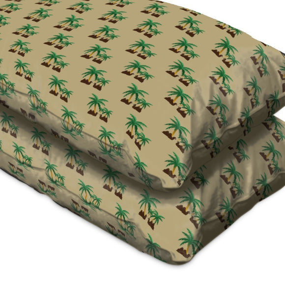 Camels in an Oasis Pillow Case