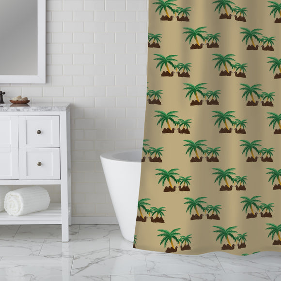 Camels in an Oasis Shower Curtain