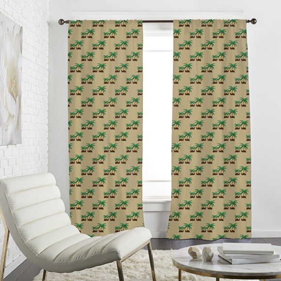 Camels in an Oasis Curtains