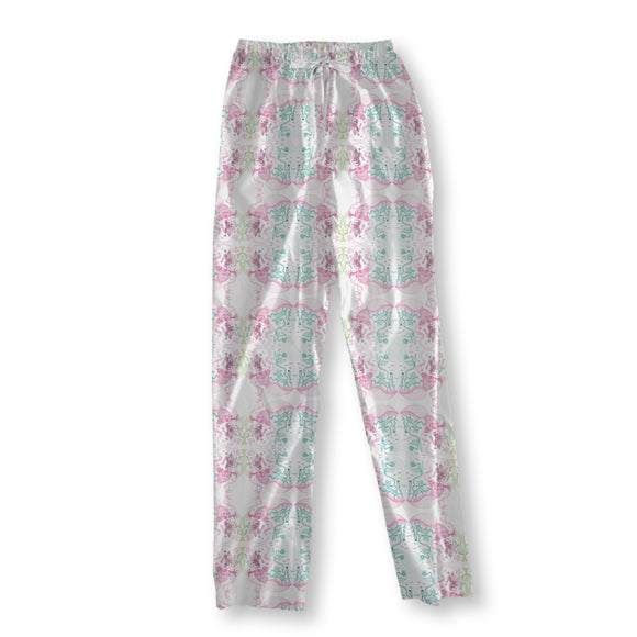 Fairytale About The Raspberry-Cat Pajama Pants