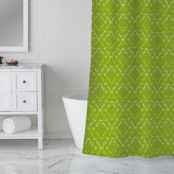 Rhombs of Curlicues Shower Curtain