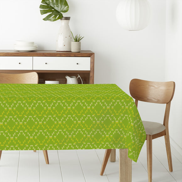 Rhombs of Curlicues Rectangle Tablecloths