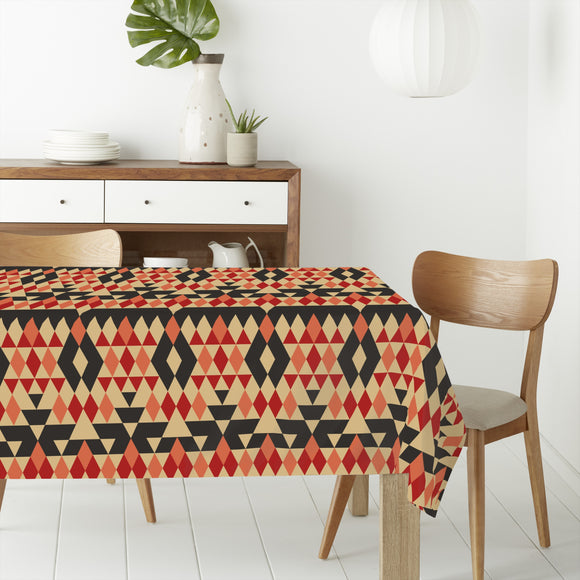 Ethno Rhombs Rectangle Tablecloths