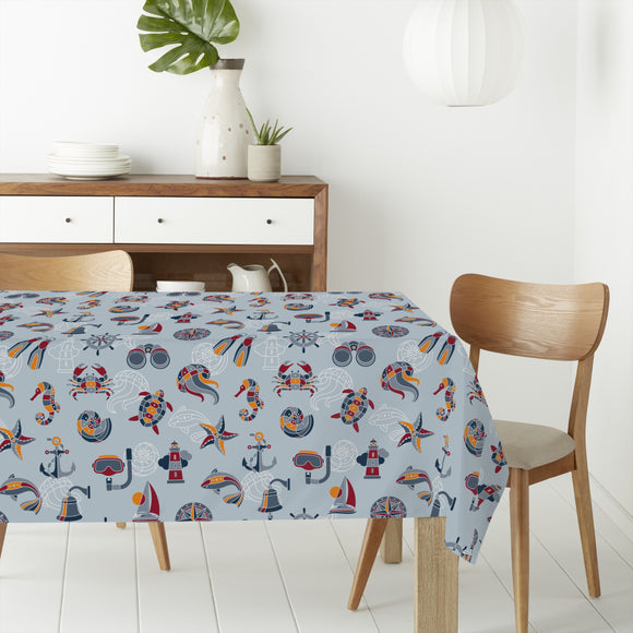 Across The Ocean Rectangle Tablecloths