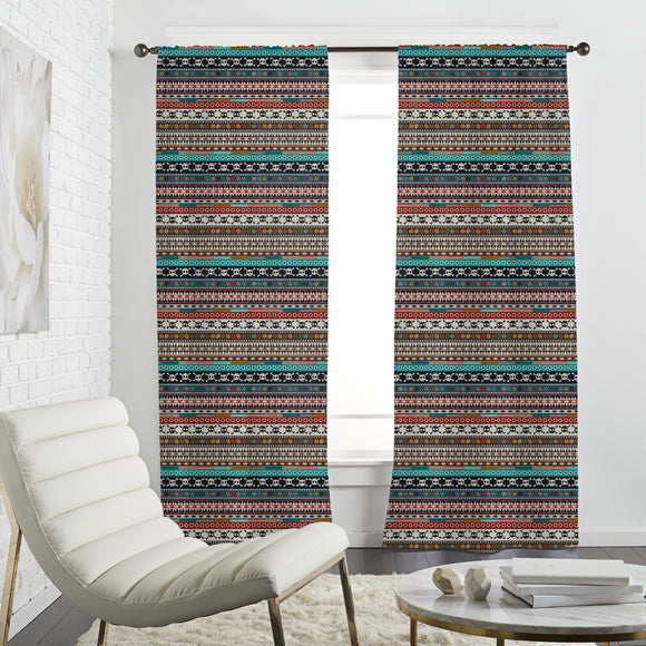 Aztec Bordure Curtains
