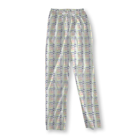 Grid meets Rectangles Pajama Pants