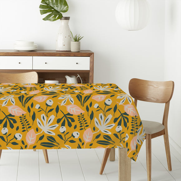 Abstract Foliage Rectangle Tablecloths