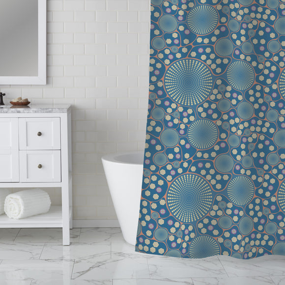 Frozen Microsection Shower Curtain
