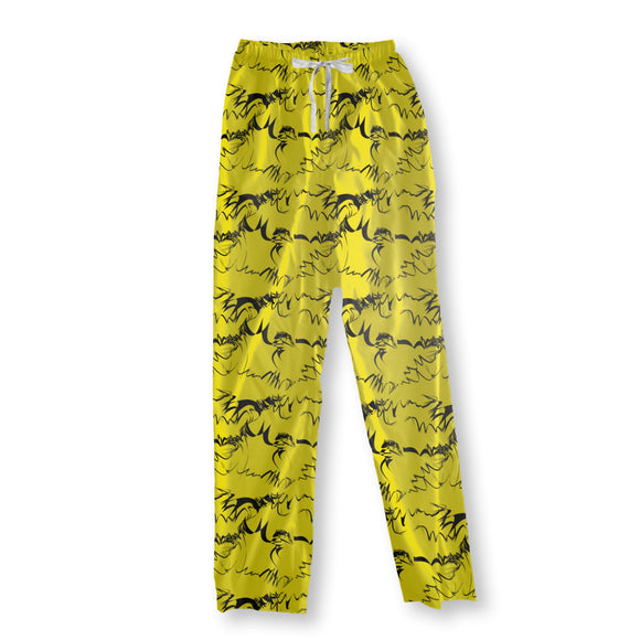 Calligraphy On Yellow Pajama Pants