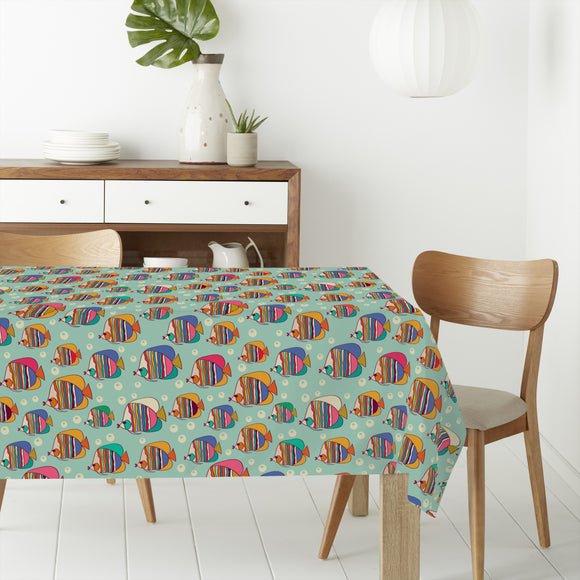 Emperor Angelfish Rectangle Tablecloths