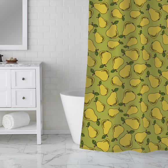 Vintage Pears Shower Curtain
