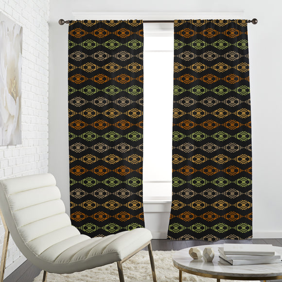 About Zig Zag And Rhombus Curtains