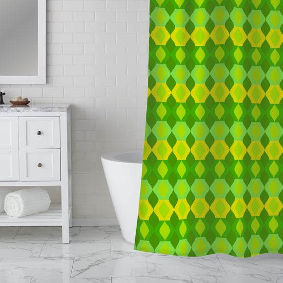 Arranged comb Shower Curtain