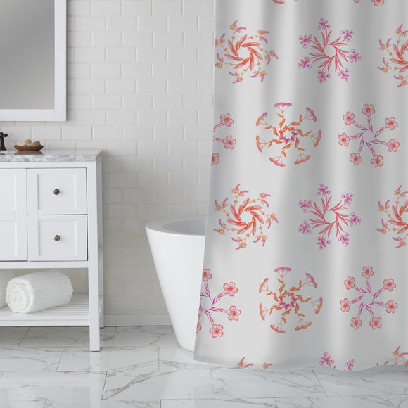 Wildflower Wreaths Shower Curtain