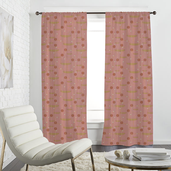 Geometric Retro Shapes Curtains