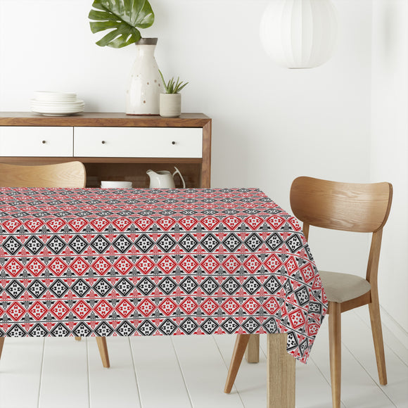 Eastern Squares Rectangle Tablecloths