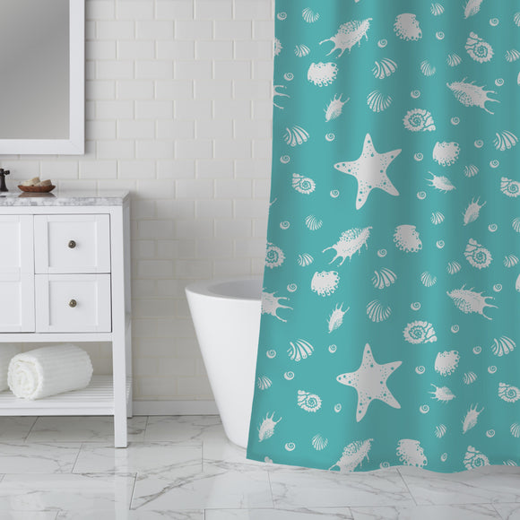 Shell Party Shower Curtain
