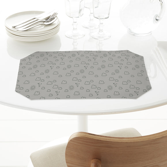 Outlined Sun And Rain Placemats
