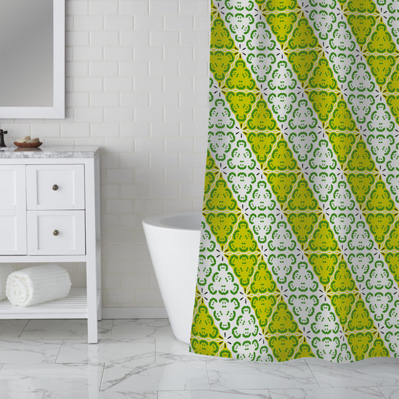 Diagonal and Fresh Shower Curtain