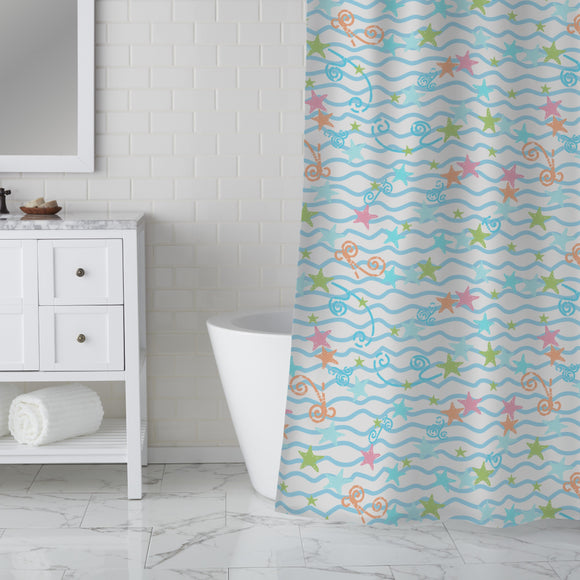 Playful Mood Shower Curtain