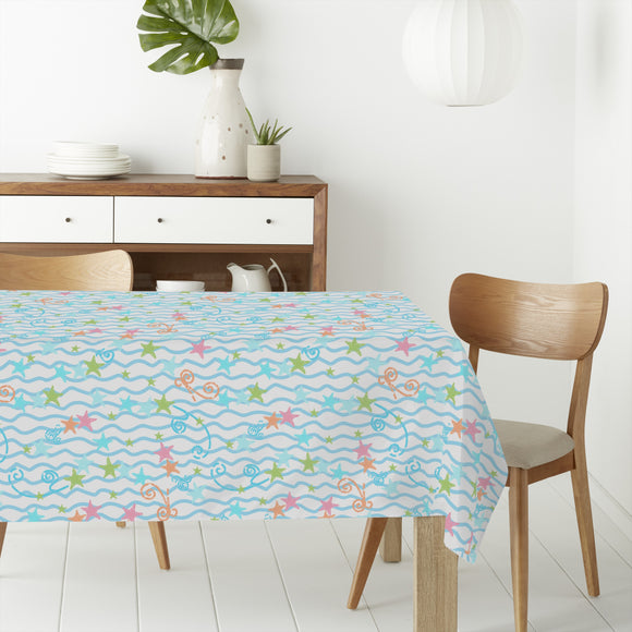 Playful Mood Rectangle Tablecloths