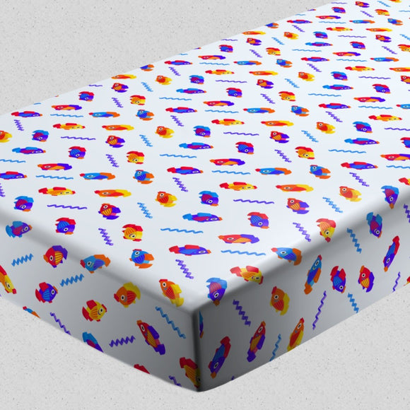 3D Fish Game Fitted Sheets
