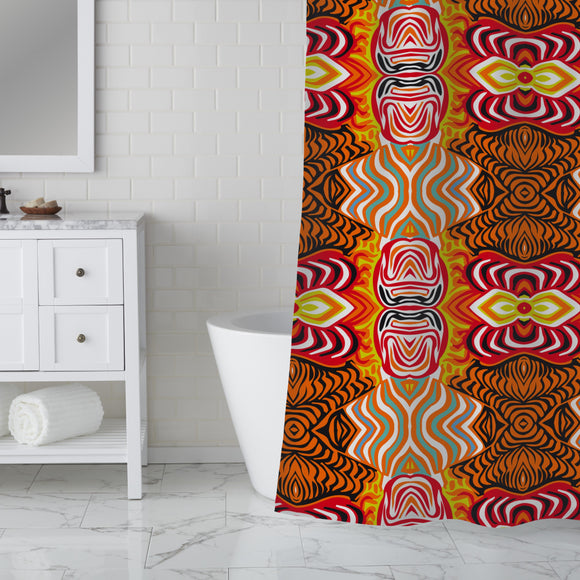 Woodcut Dream Shower Curtain
