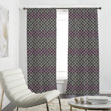 Abstract Floral Grid Curtains