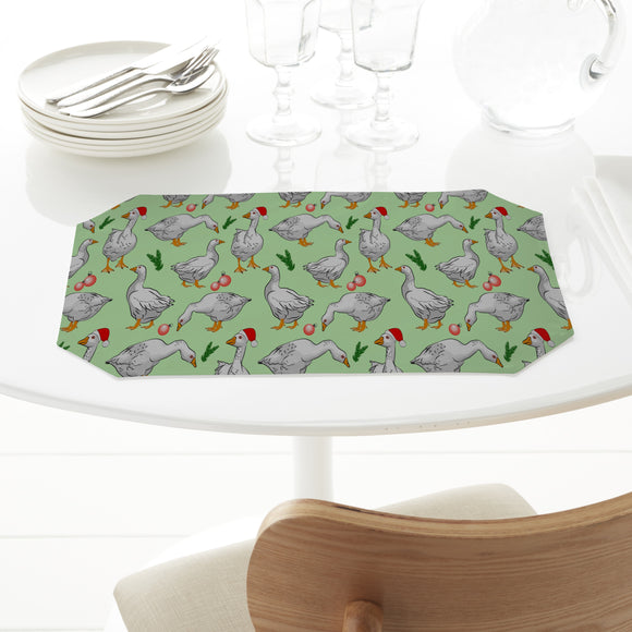 Geese at Christmas Placemats