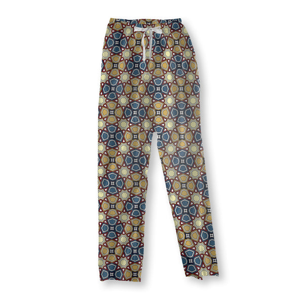 Geometric Markings Pajama Pants