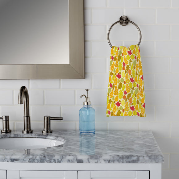 Dried Leaves Hand Towel