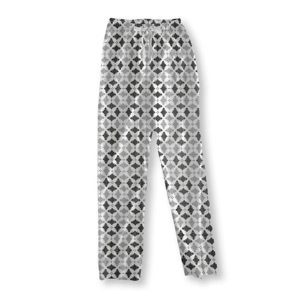 Plaid Ornaments Pajama Pants