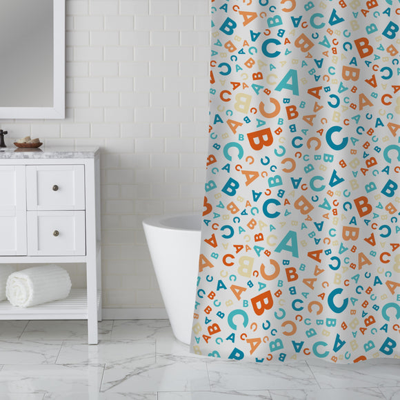 Back to school - ABC Shower Curtain