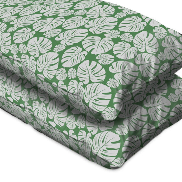 Tropical Monstera Leaf Pillow Case
