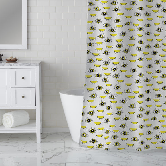 Sunny eyes Shower Curtain