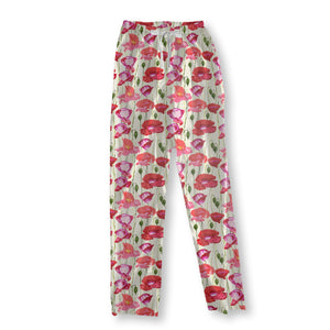 Colorful poppies Pajama Pants