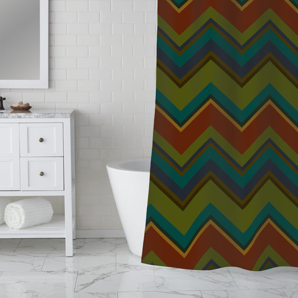 Groovy Chevron Shower Curtain