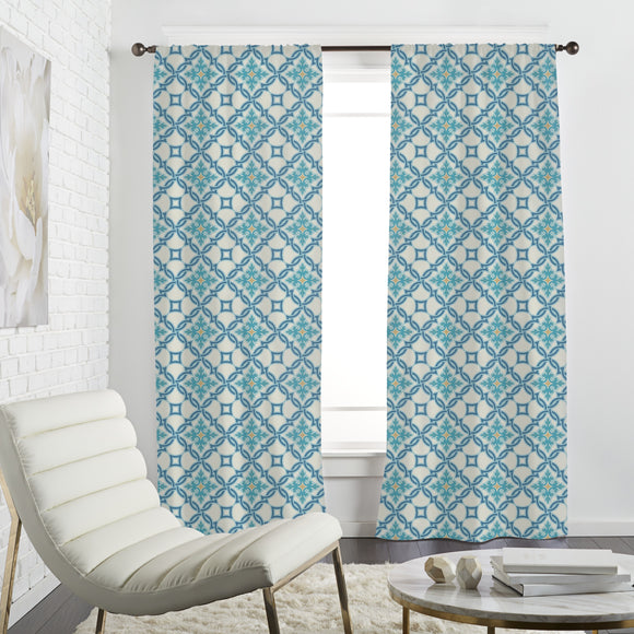 Portuguese tile mosaic Curtains