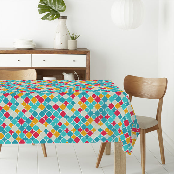 Funny quatrefoils Rectangle Tablecloths