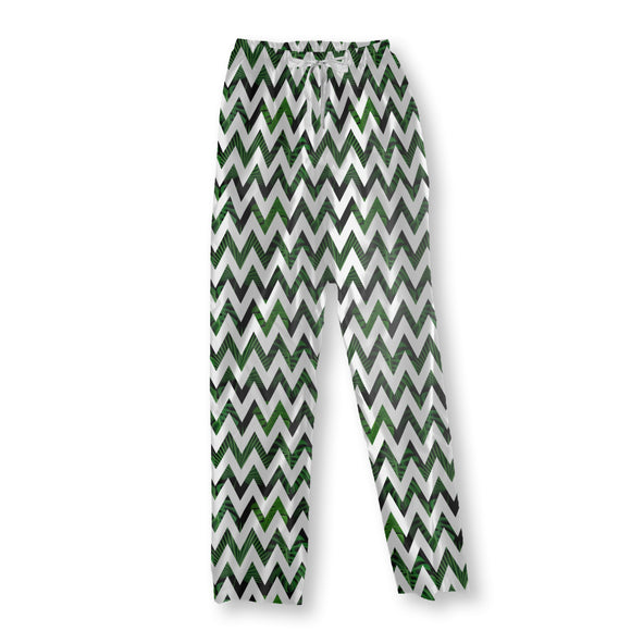 Zig zag Palm Leaves Pajama Pants