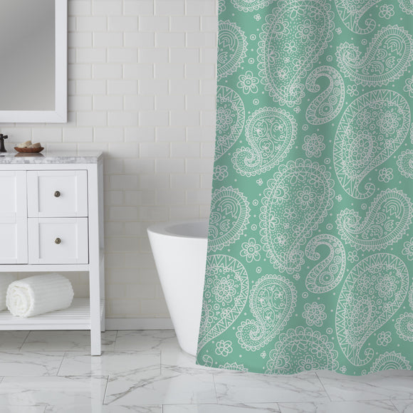 Summer Paisley Shower Curtain