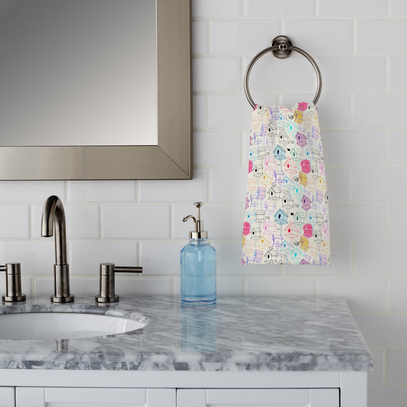 Bird Houses  Hand Towel
