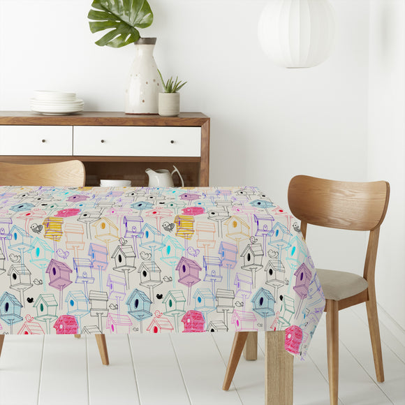 Bird Houses  Rectangle Tablecloths