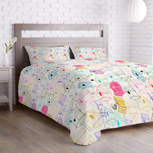 Bird Houses  Duvet