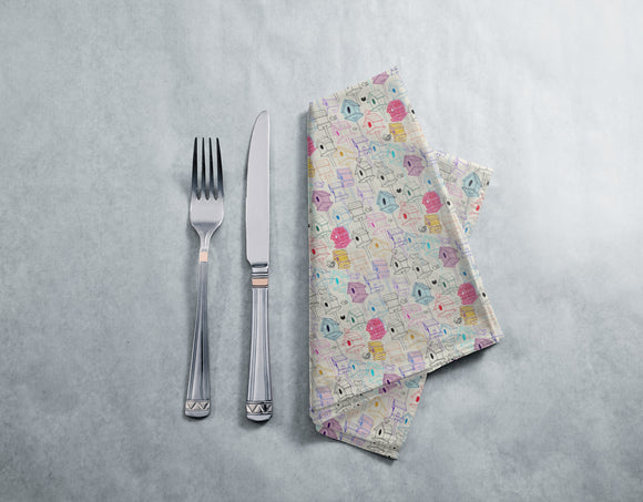 Bird Houses  Napkins