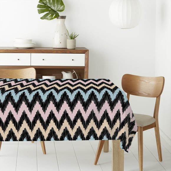 Modern Zig Zag Rectangle Tablecloths